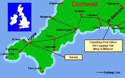 Cornwall holiday carriage map